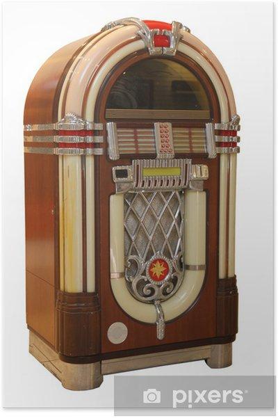 Poster Old Jukebox Music Player - Musik