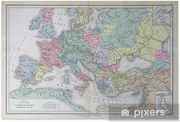 Old Map Of 1883 Europe Poster Pixers We Live To Change
