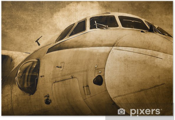 Old military aircraft Poster