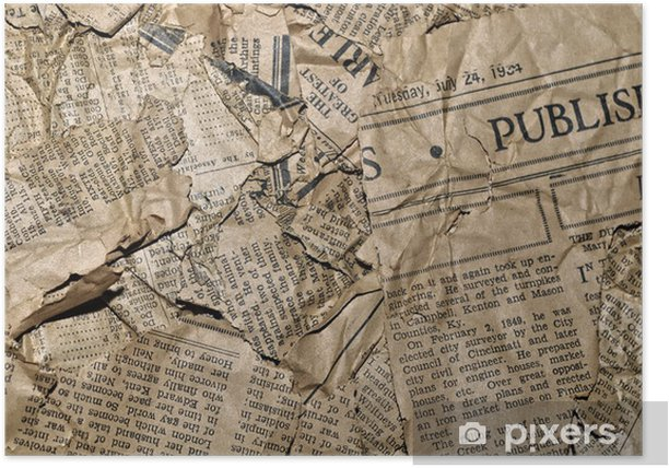 Old Newspaper Background Poster Pixers 174 We Live To Change
