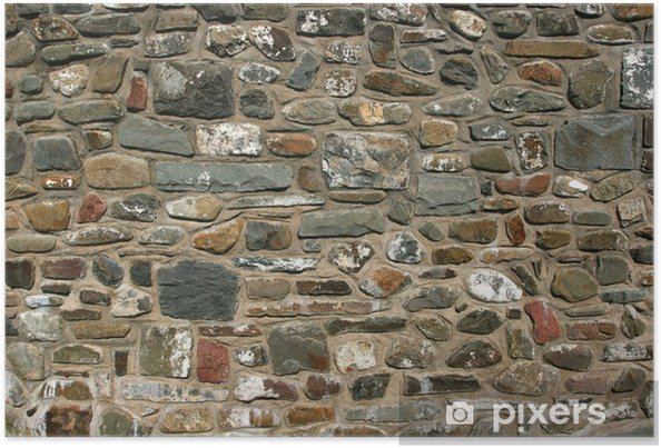 Poster Old stone wall - Monuments