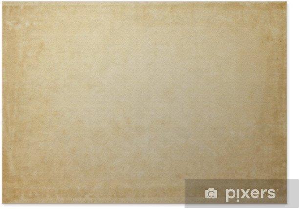 Old Vintage Grunge Paper Texture Or Background Poster