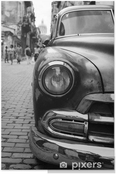 Poster Oldtimer auf Kuba - Resor