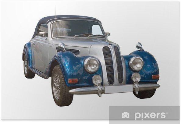 Póster Oldtimer, clásica del coche, Cabriolet - Temas