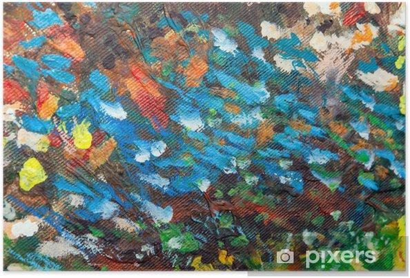 Póster Óleo pintado fondo III - Artes y creación