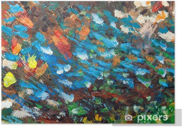 Poster Olie geschilderde achtergrond III - Kunst en Creatie