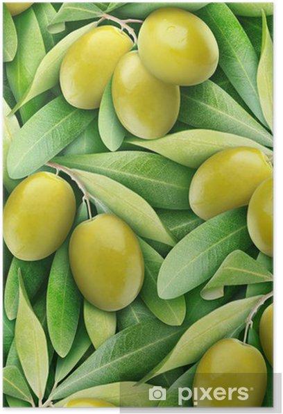 Poster Olives vertes fond - Olives