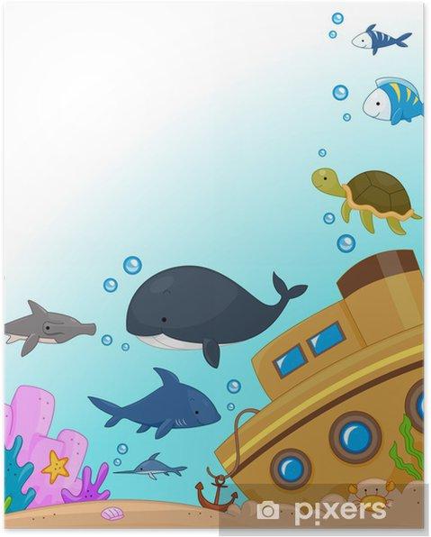 Kleurplaten Van Onderwaterdieren.Poster Onderwater Dieren Pixers We Leven Om Te Veranderen