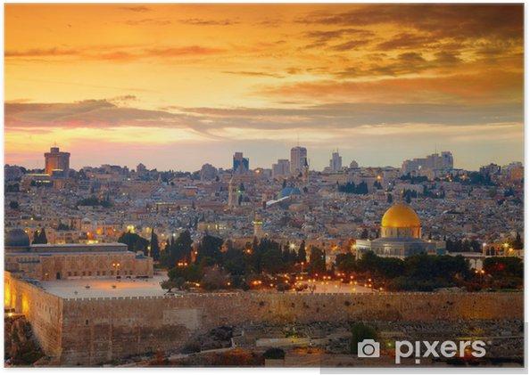 Poster Oog op de oude stad van Jeruzalem. Israël - Thema's