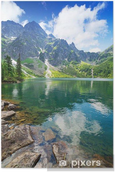 Poster Oog van de zee meer in Tatra gebergte, Polen - Thema's