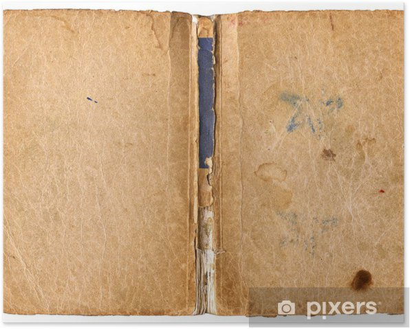 Open book with damaged backbone - isolated on white Poster - Textures