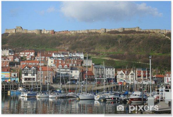 Póster Opinión de la costa de Scarborough en Yorkshire Gran Bretaña - Europa