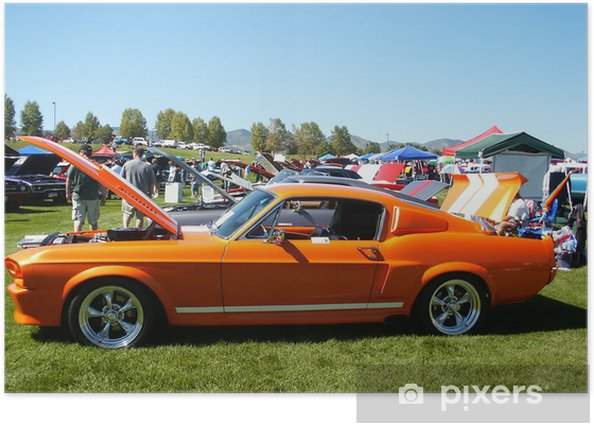 Orange American Muscle Car Poster Pixers We Live To Change