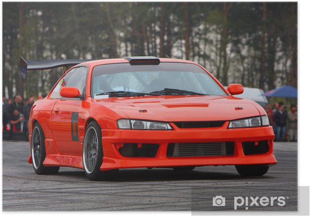 Poster Orange Car le sport - Sports extrêmes