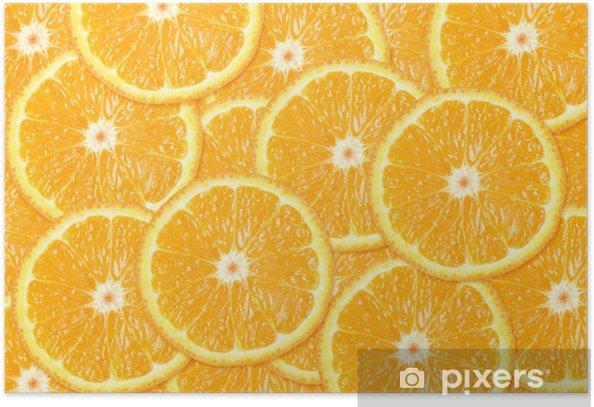 Orange fruit background Poster - Fruit
