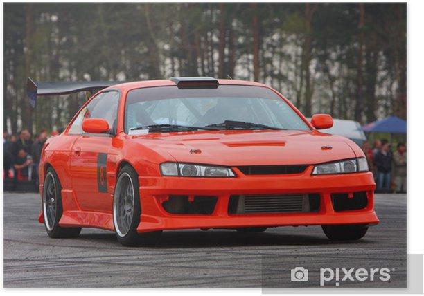 Poster Oranje sportwagen - Extreme sport