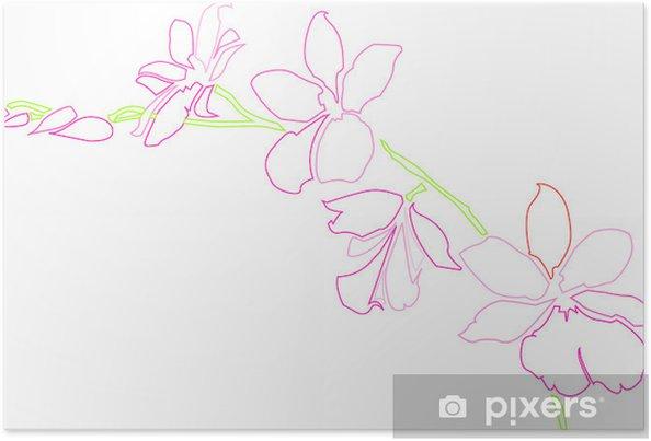 Poster Orchidée - Plantes