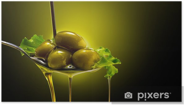 Poster Orientée objet e Olive - Olives