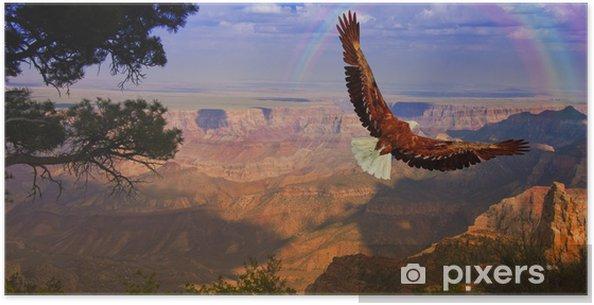 Poster Örnen tar flyg över Grand Canyon USA - Teman