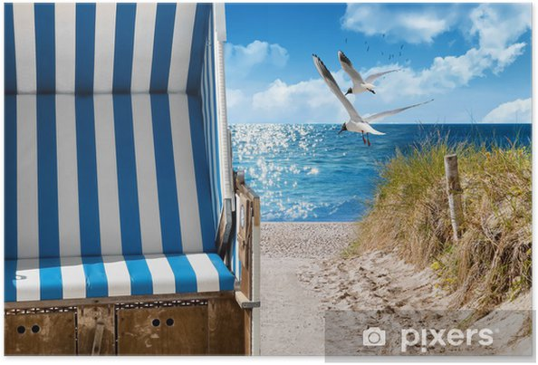 Poster Ostsee Strand - Vacances