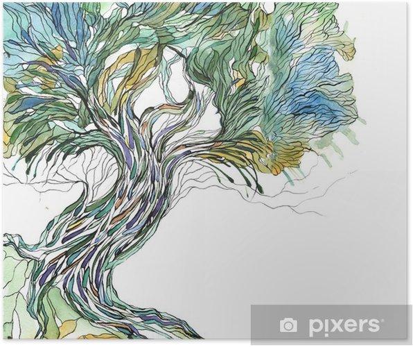 Poster Oude boom - Wetenschap en natuur