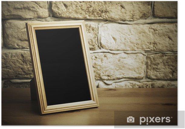 Poster Oude foto frame - Texturen