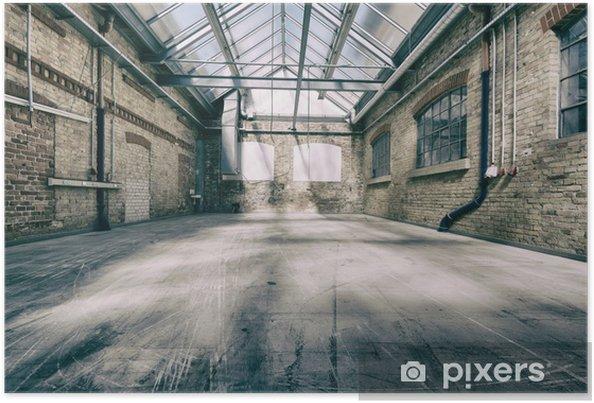 Poster Oude industriële hal 4 - Industriële en Commerciële Gebouwen