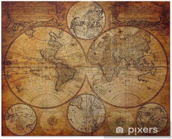 Poster Oude kaart (1746) -