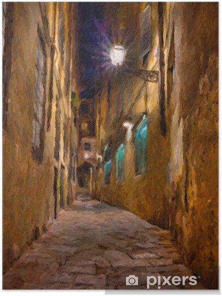 Poster Oude steegje in Florence - Kunst en lifestyle