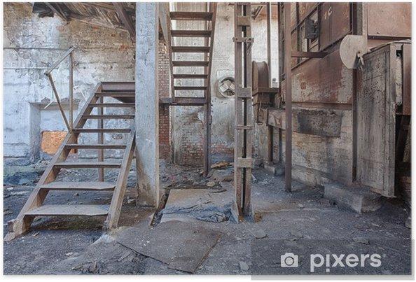Poster Oude, verlaten en vergeten steenfabriek - Stijlen