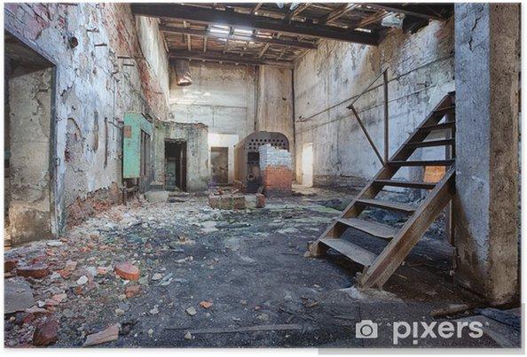 Poster Oude, verlaten en vergeten steenfabriek - Industriële en Commerciële Gebouwen