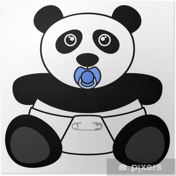Poster Ours panda - Sticker mural