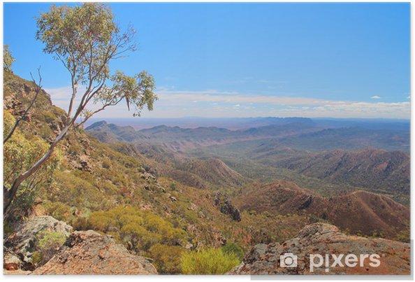 Poster Outback australien et Flinders Ranges - Thèmes