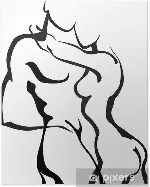 Poster Paar in liefde - Koppels