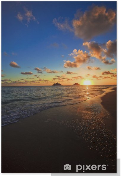 Pacific Sunrise At Lanikai Beach Hawaii Poster