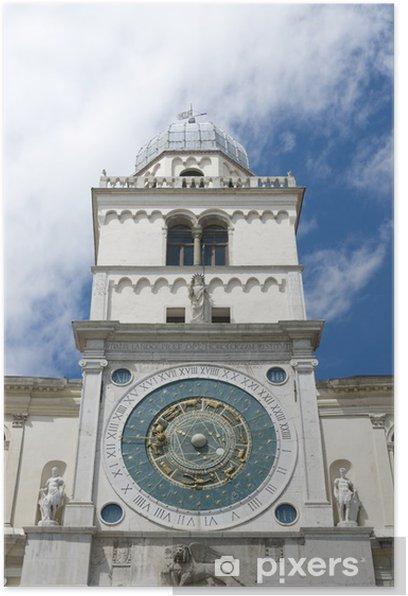 Padua, Italy: Capitanio Palace clock tower Poster - Europe