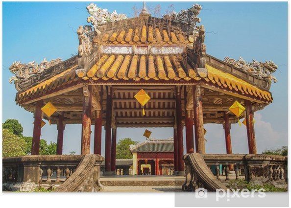 Pagoda at the Imperial City, Hue, Vietnam. Poster - Asia