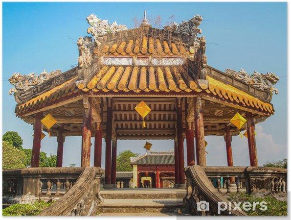 Poster Pagode à la ville impériale, Hue, Vietnam. - Asie