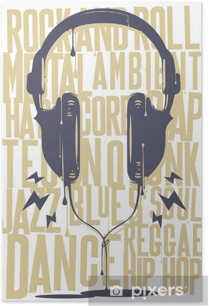 Painted Headphones Poster - Hip Hop