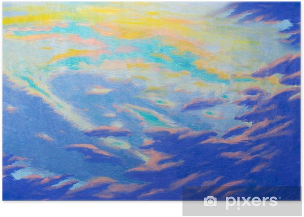 Painting abstract art original oil and acrylic color on canvas  Poster