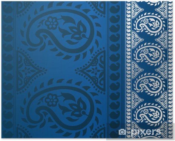 Poster Paisley motif floral, modèle de mariage, royal Inde - Styles