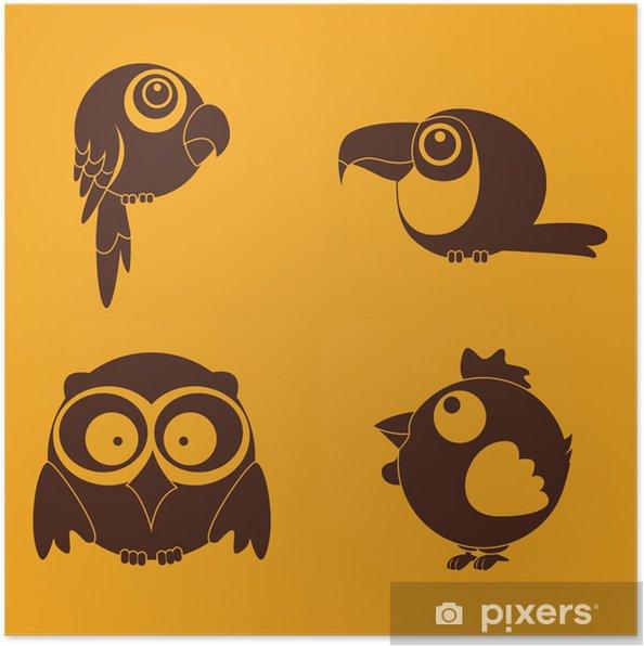 Póster Pajaros - Aves