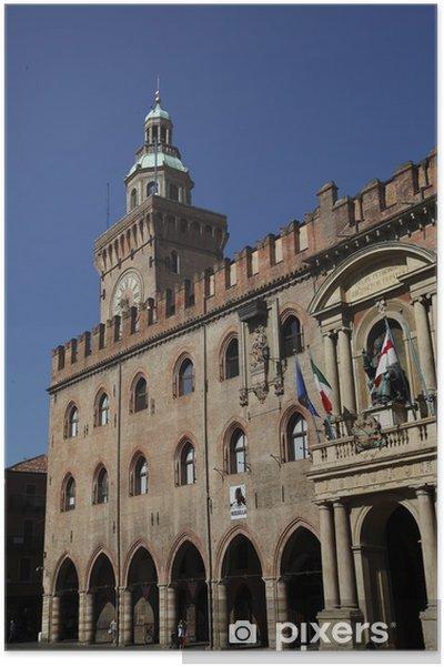 Poster Palais communal de Bologne ou Palazzo d'Accursio - Propriétés privées