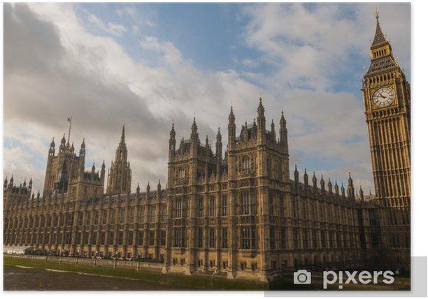 Poster Palais de Westminster ( Chambres du Parlement) à Londres - Thèmes