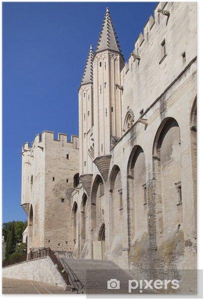 Poster Palais des papes d'Avignon - Europe