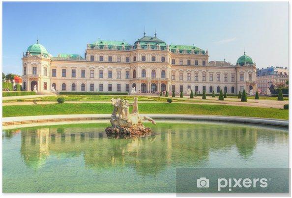 Poster Palais du Belvédère à Vienne - Autriche - Europe