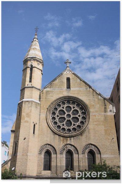 Poster Palerme - Église anglicane de Sainte-Croix - Bâtiments publics