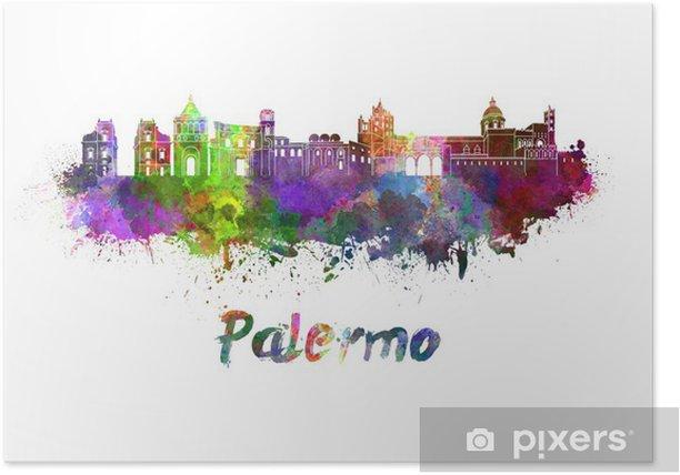 Poster Palerme horizon à l'aquarelle - Europe