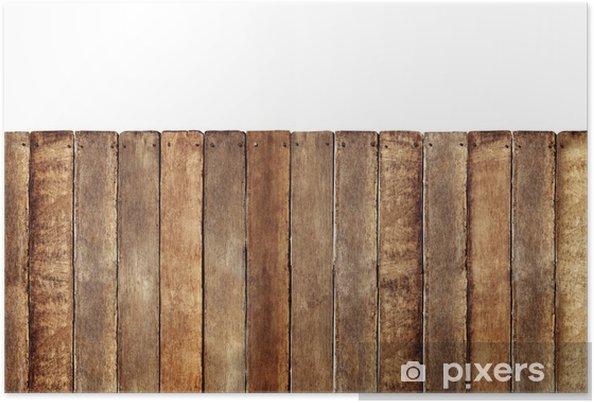 Poster Palissade en bois - Merveilles naturelles