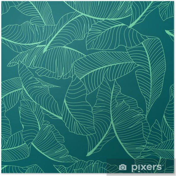 Poster Palm patroon - Grafische Bronnen